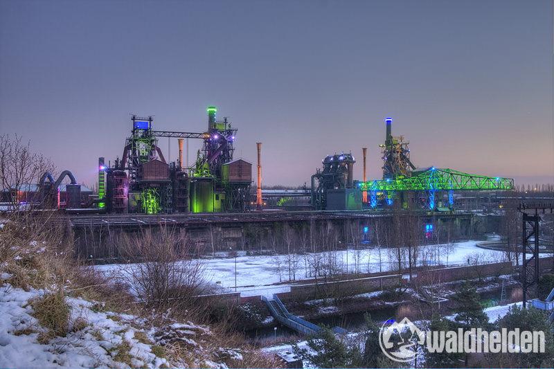 Langzeitbelichtung mit dem Rollei Compact Traveler No 1 im Landschaftspark Duisburg