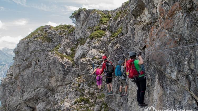 Klettersteig Kanzelwand - Mit der Bergschule Kleinwalsertal auf den Walsersteig (mit Video)