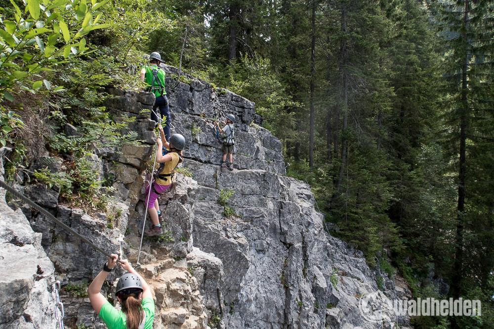 Klettersteig Kleinwalsertal : Klettersteig kanzelwand mit der bergschule kleinwalsertal auf