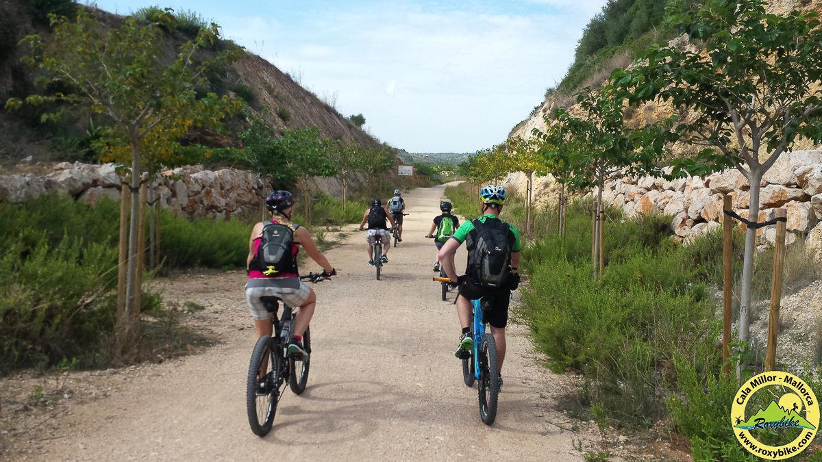 Mountainbiken auf stillgelegter Bahntrasse