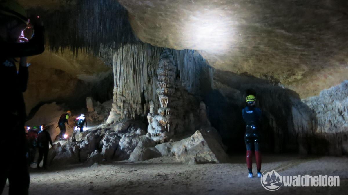 Im Inneren der Höhle Cova des Coloms