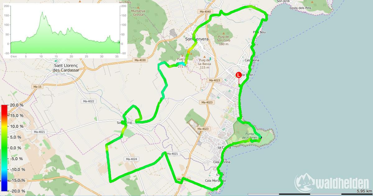 Roxybike Mallorca Tour 15 Karte