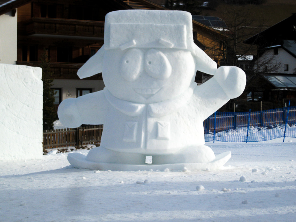 Schneeskulpturen in StVigil