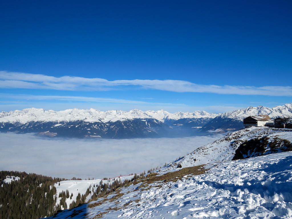 Skigebiet Kronplatz - Wolken im Tal