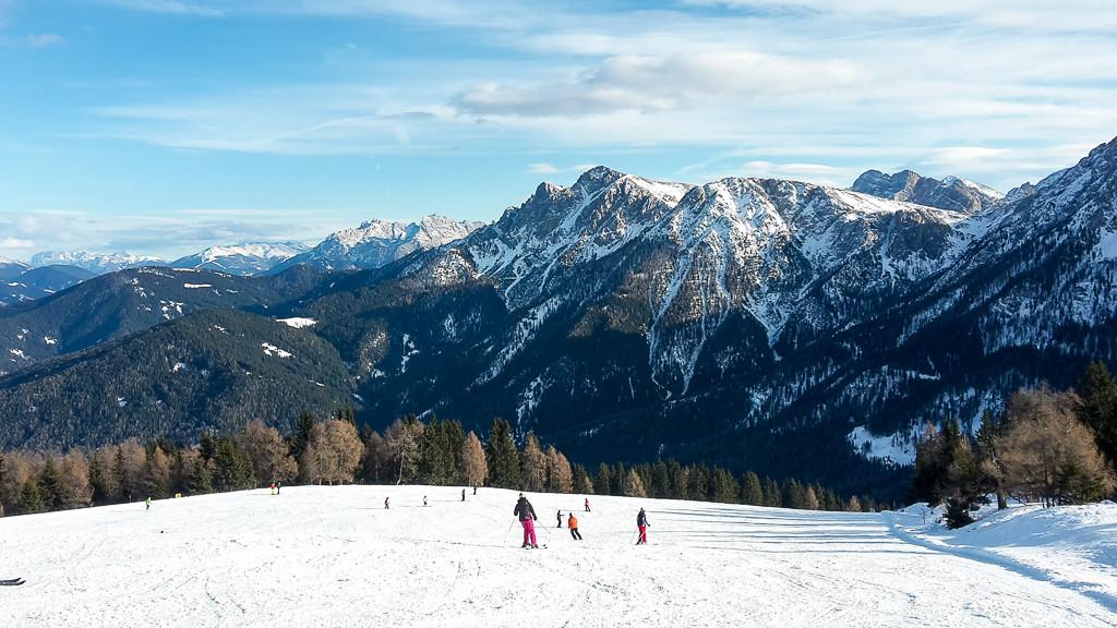 Skigebiet Kronplatz - zahlreiche breite und flache Pisten