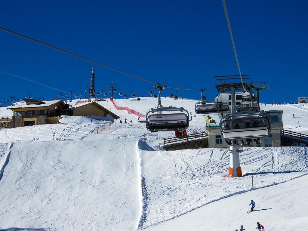 Skigebiet Kronplatz - Zahlreiche Liftanlagen zum Hochplateau