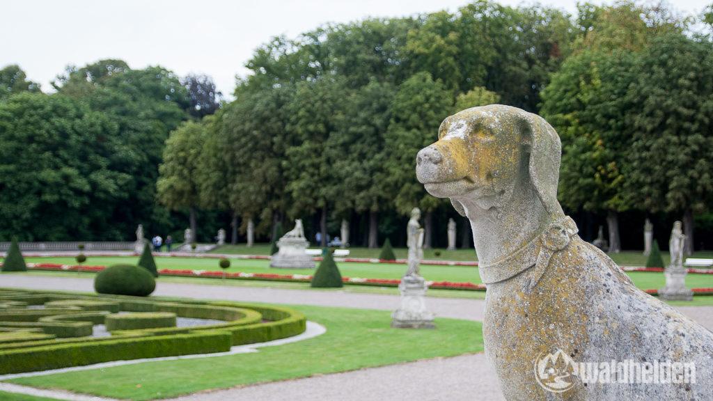In dem riesigen Schlossgärten gibt es viel zu entdecken.