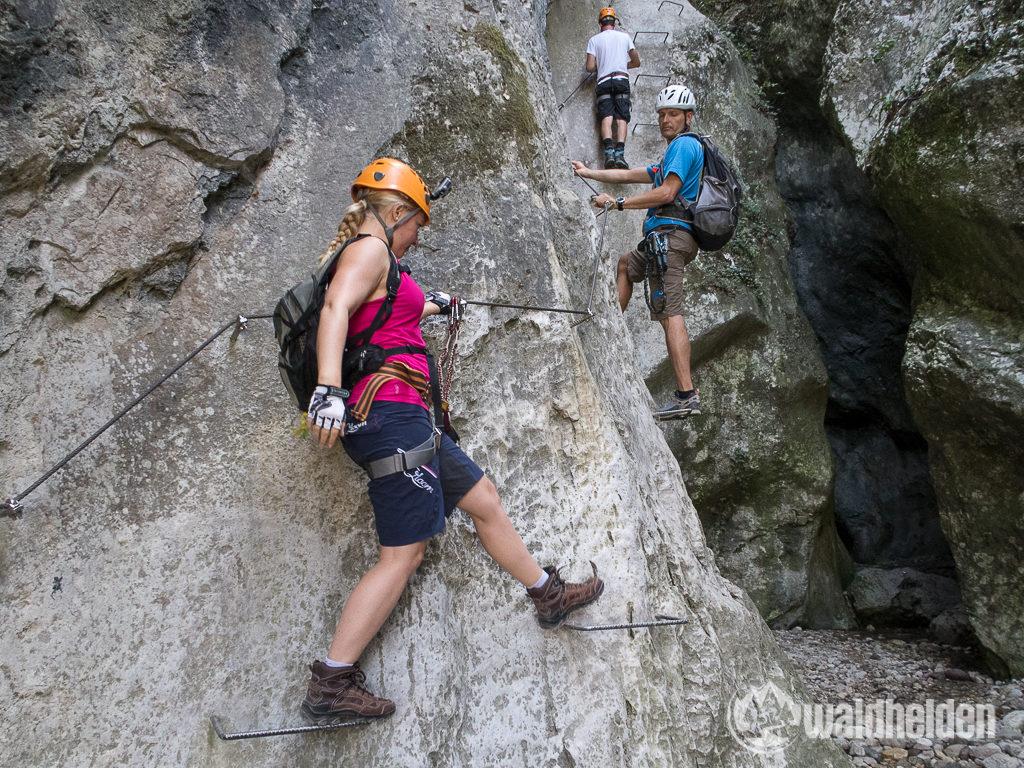 Rio Sallagoni Klettersteig Gardasee