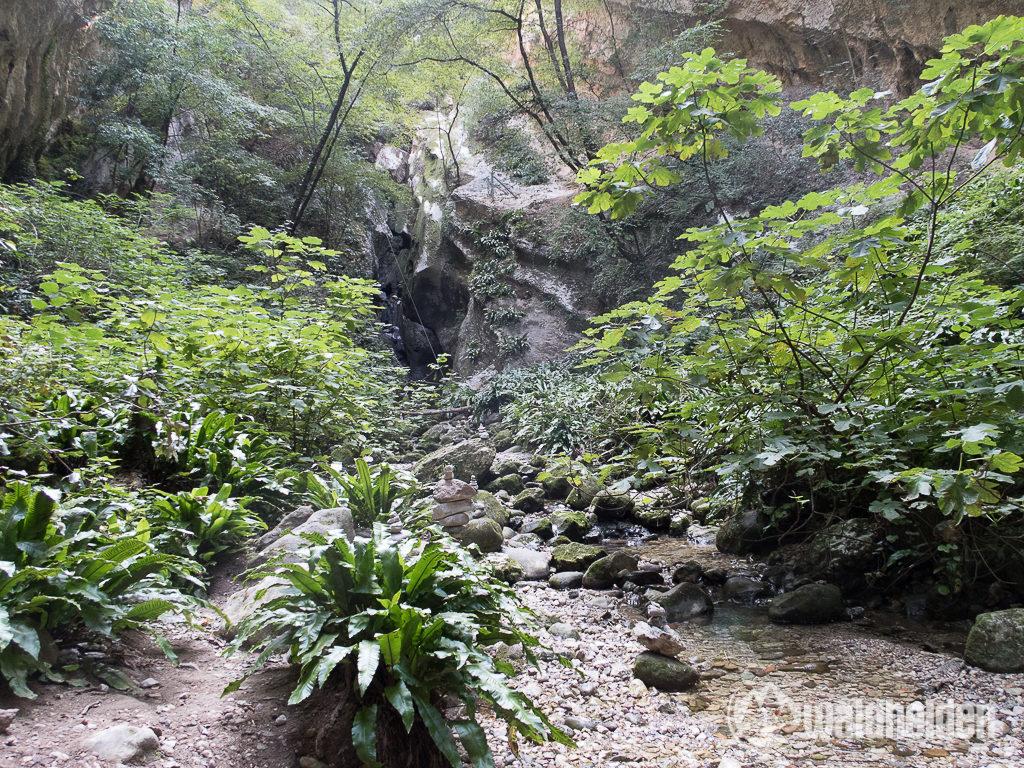 Rio Sallagoni Klettersteig Schlucht