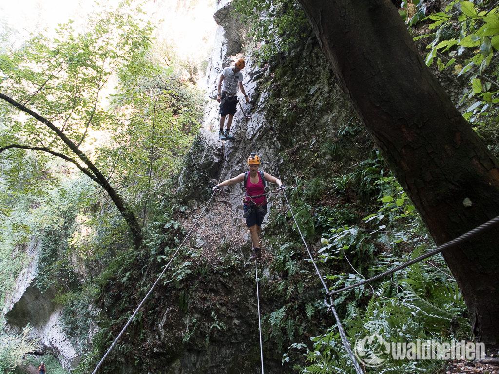 Rio Sallagoni Klettersteig Ausstieg