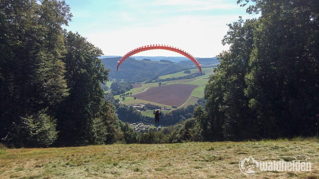 Westerwaldsteig Gleitschirmfliegen