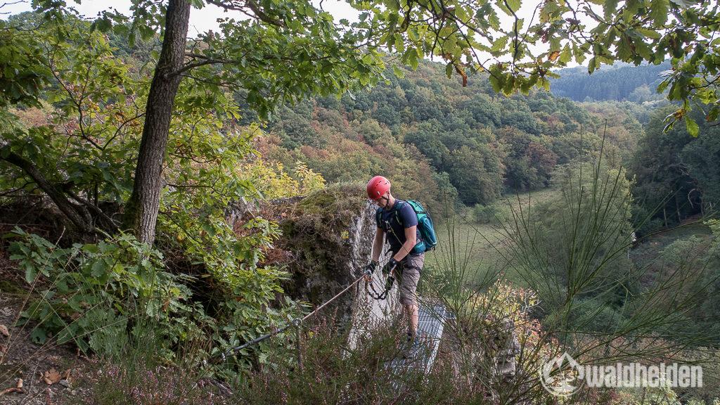 Westerwaldsteig Metallbrücke Klettersteig