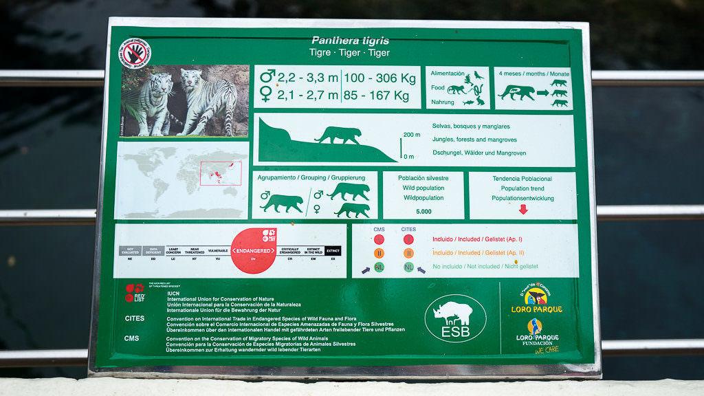 Loro Parque bedrohte Tierarten