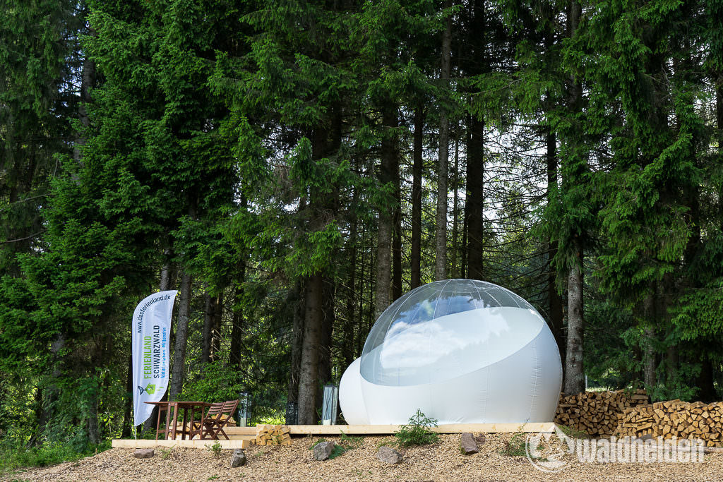 Glamping im Schwarzwald Bubble-Tent Technik
