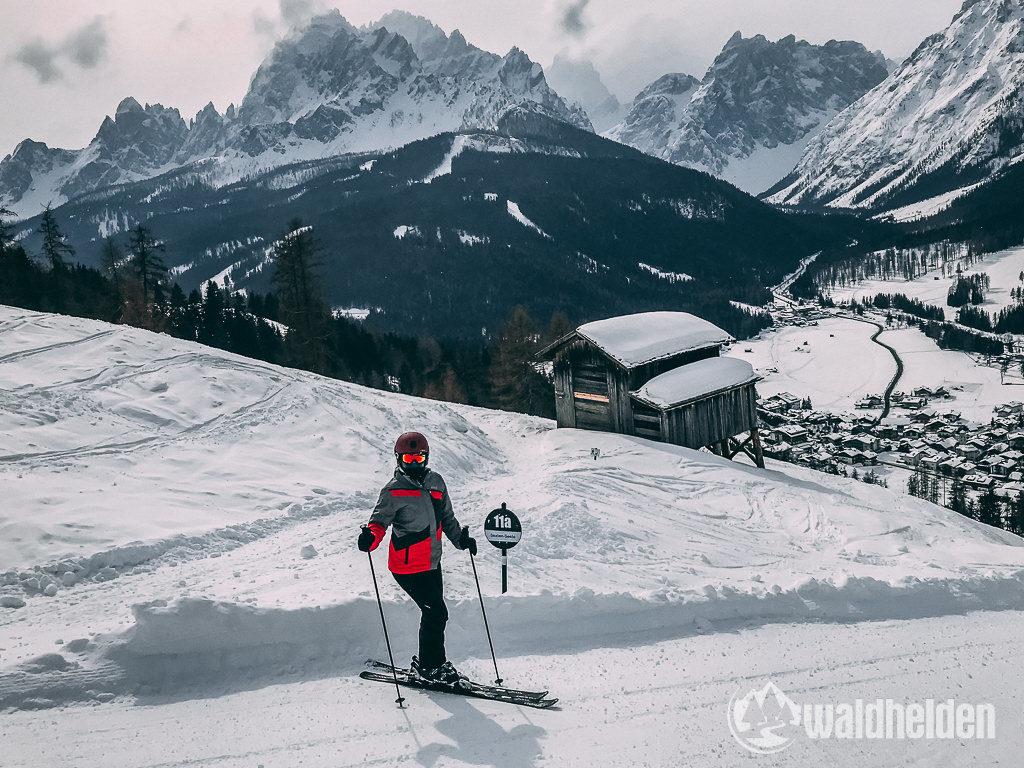 Schwarze Piste 3 Zinnen Dolomites