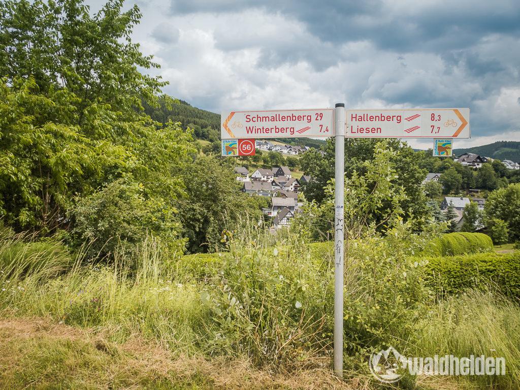 GeoRadroute-Ruhr-Eder-Wegweiser-Korbacher-Dackel
