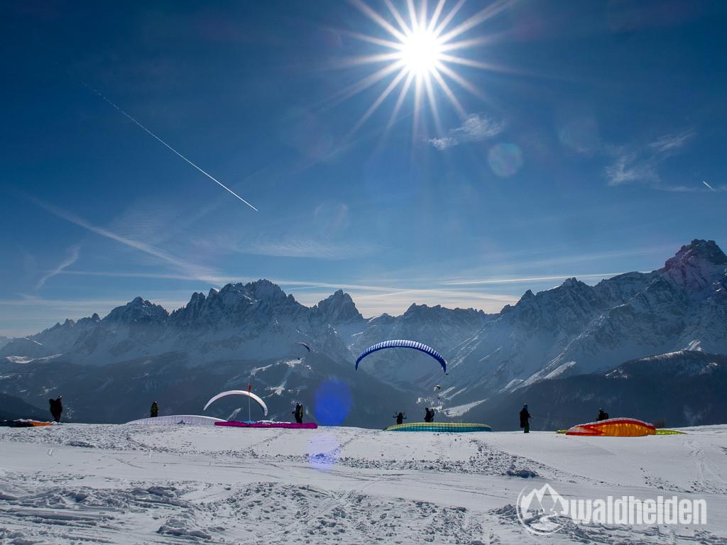 Bad Moos Dolomiten Gleitschirm fliegen