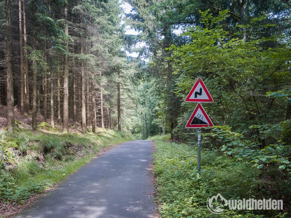 GeoRadroute Winterberg Willingen Radweg Gefaelle