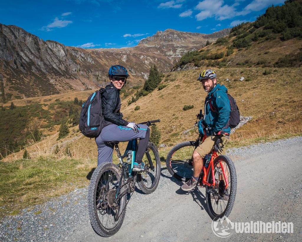 Montafon Mountainbiken Aussicht