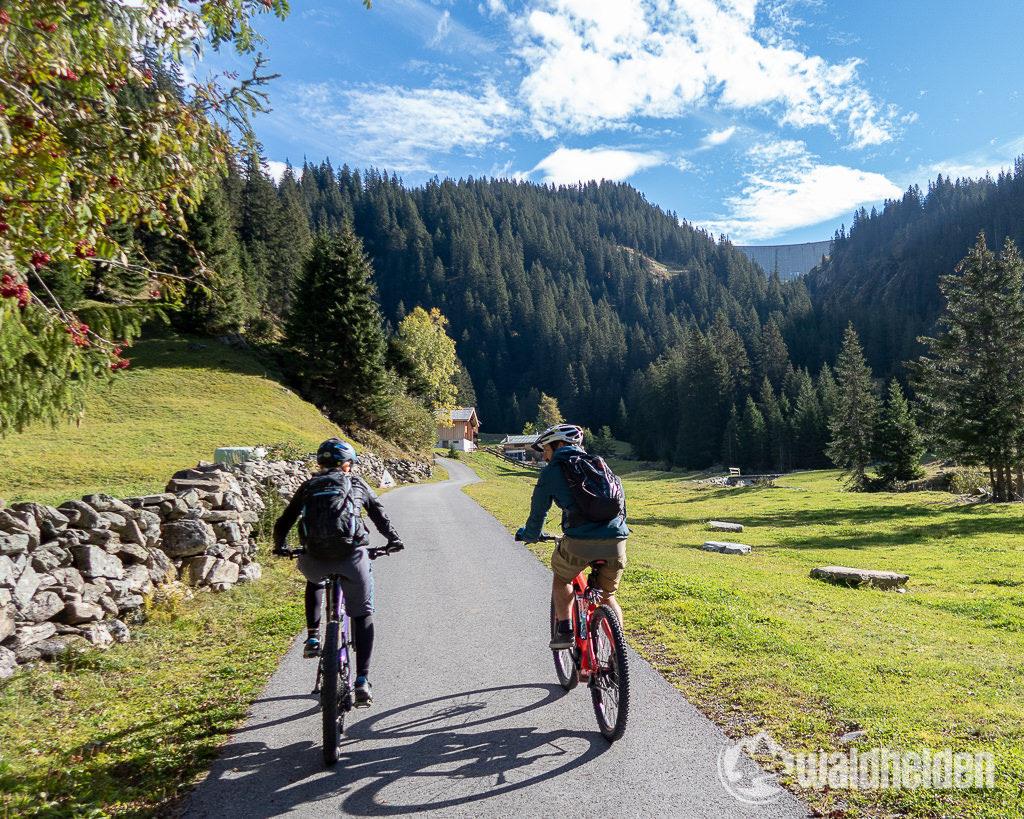 Montafon Mountainbiken Kopssee Staumauer