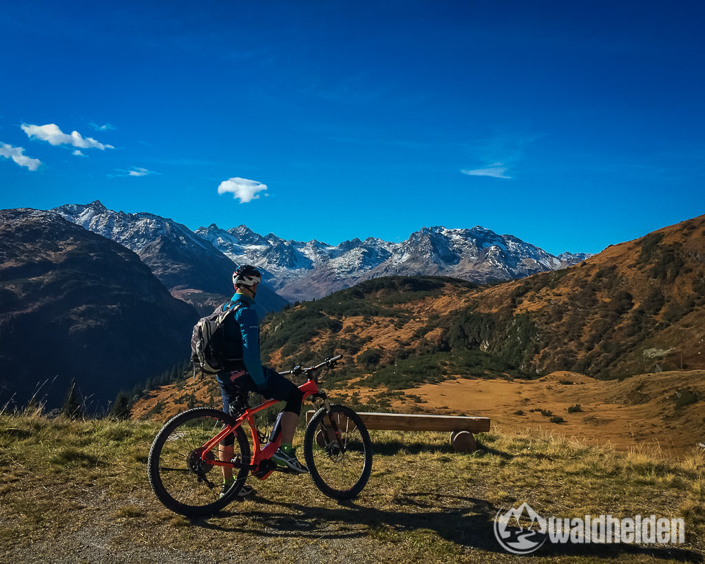 Montafon Mountainbiken Panorama Verbella