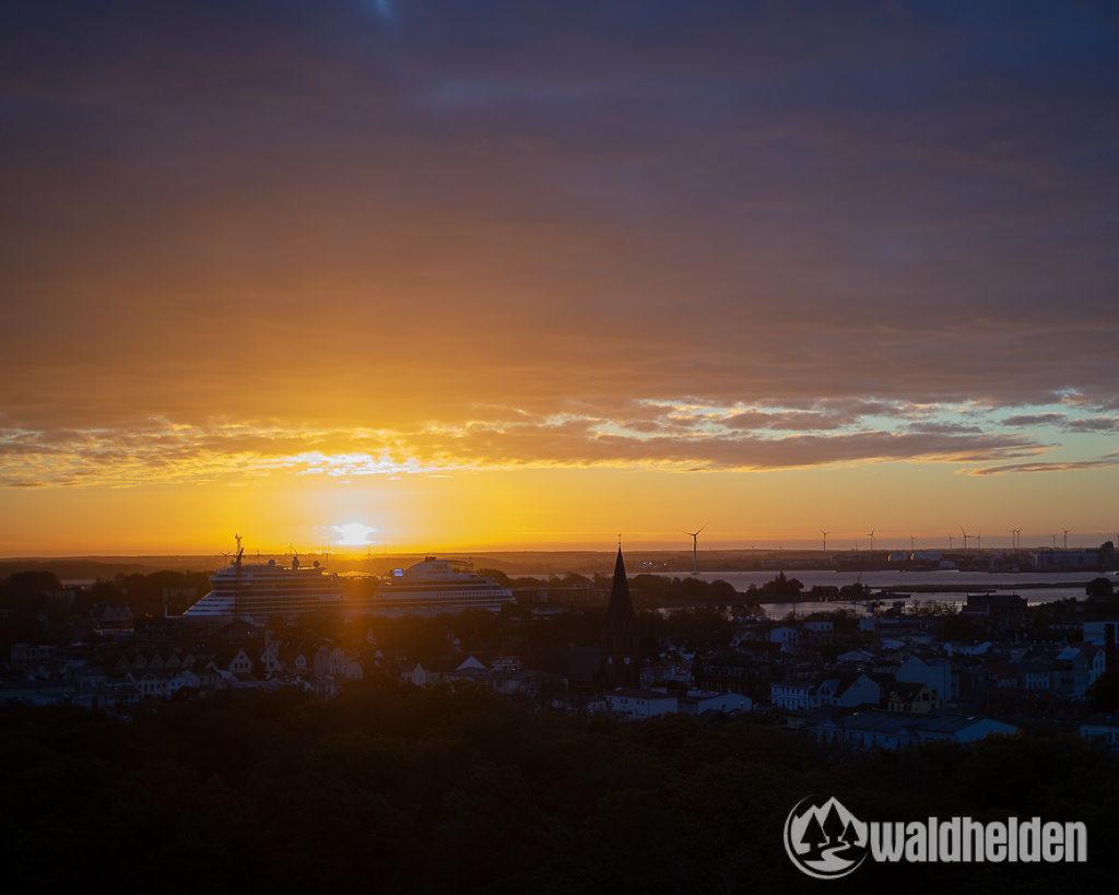 Warnemünde Wander Wellness AIDA Sonnenaufgang