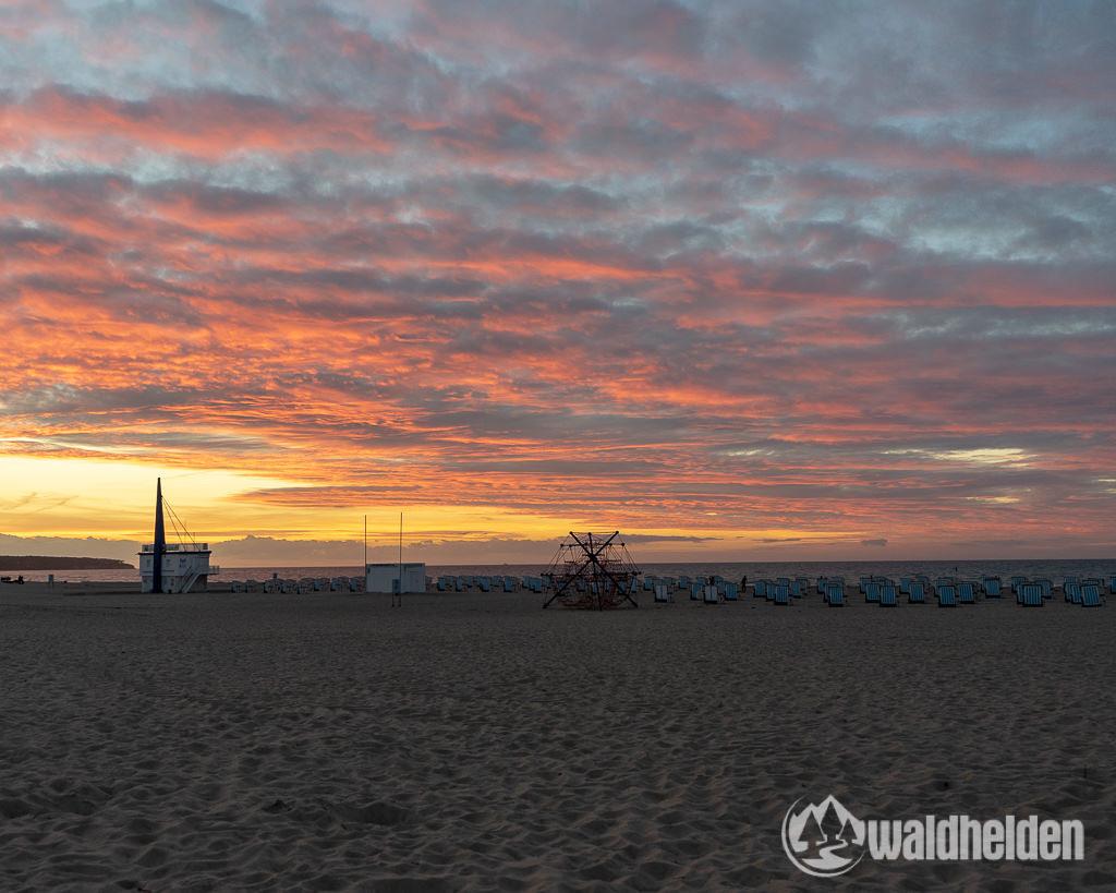 Warnemünde Wandern Wellness Sonnenuntergang am Strand