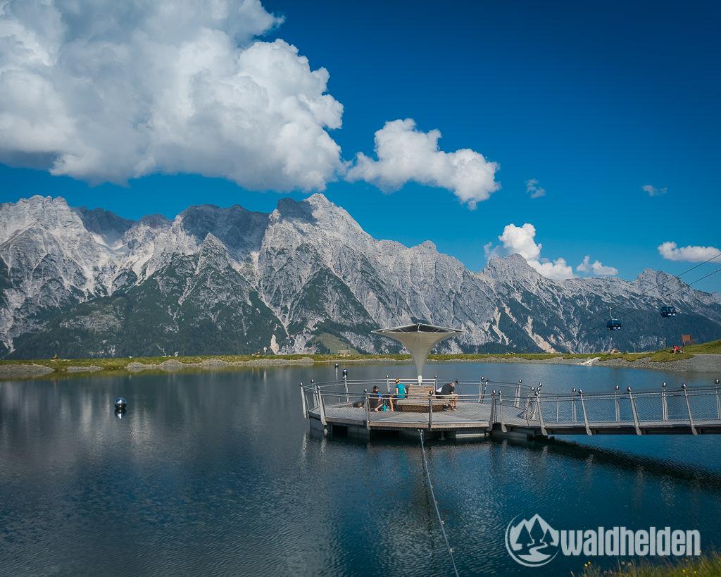 Leogang Saalfelden im Sommer Stille Wasser auf dem Asitz