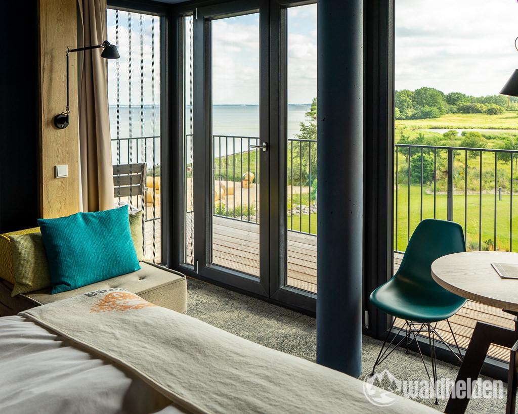 Arborea Resort Ostsee Aussicht aus dem Bett