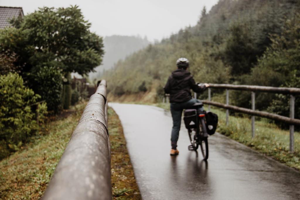 Sauerland Radring Radeln bei Regen