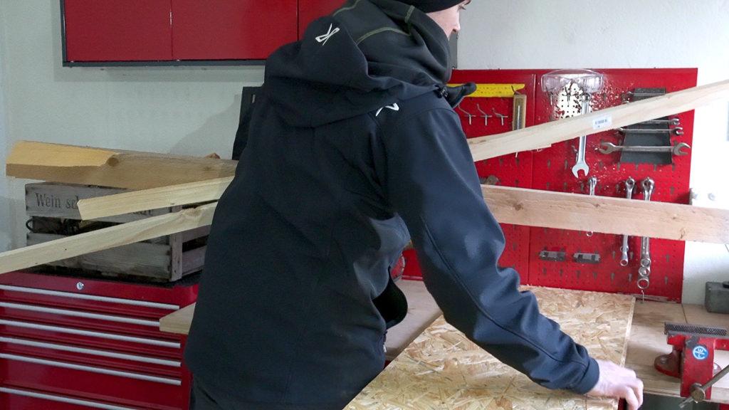 Kastenwagen Selbstausbau Holz Material