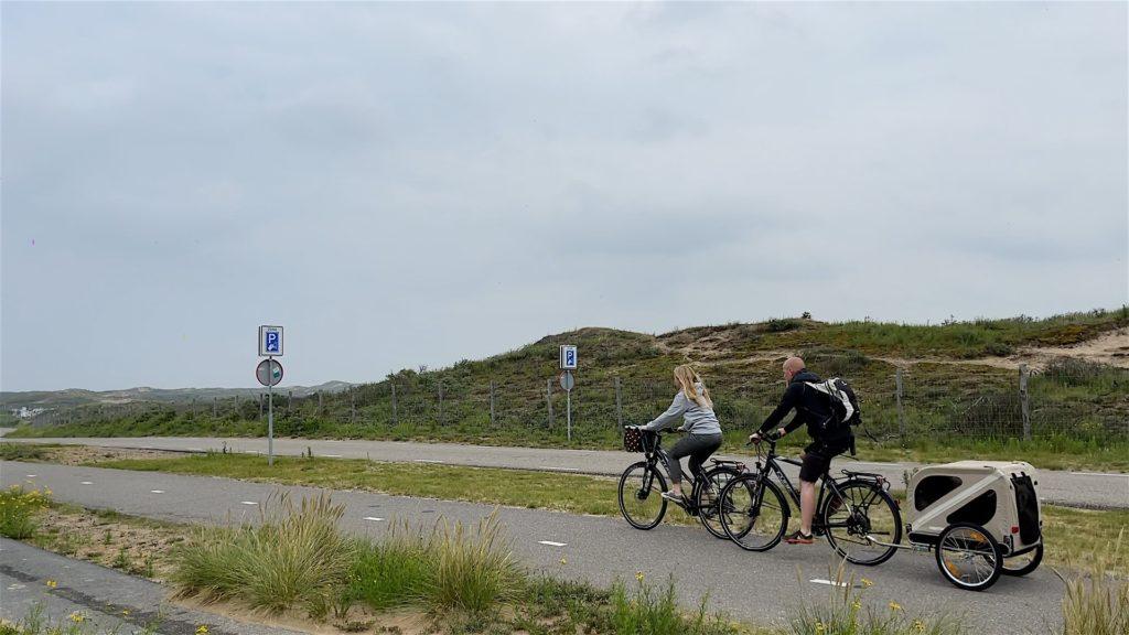 Kleine Radtour zum Meer. Etwa 3 Kilometer sind es vom Campingplatz Sollasi bis an den Strandaufgang 27.